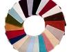 Circular carpet samples